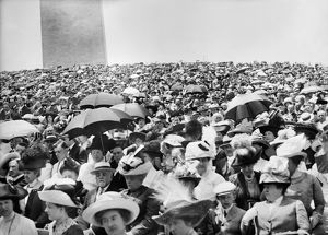 WASHINGTON: MASS, 1912. Crowds attending an open-air mass near the Washington Monument