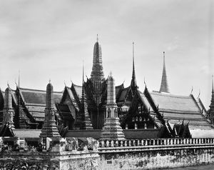 The Wat Phra Keo royal temple, also known as the Temple of the Emerald Buddha, in Bangkok