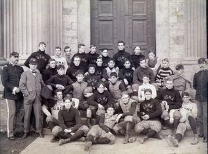 WEST POINT: FOOTBALL TEAM. Football team of the Westpoint Military Academy, 1895