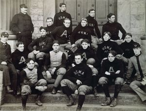 WEST POINT FOOTBALL TEAM. The football team of the United States Military Academy, 1896