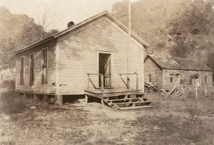WEST VIRGINIA: SCHOOL, 1921. An abandoned one-room schoolhouse near Charleston, West