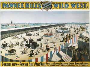 W.F.CODY POSTER, 1894. An 1894 poster for the Wild West Show of 'Pawnee Bill&quot
