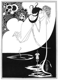 WILDE: SALOME. 'The Climax.' Pen and ink drawing by Aubrey Beardsley for