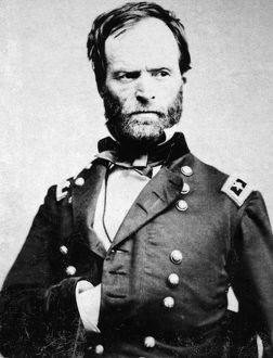 WILLIAM TECUMSEH SHERMAN (1820-1891). American army commander. Photographed by Mathew Brady
