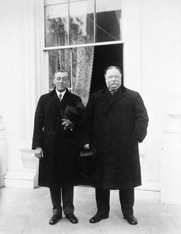 WILSON & TAFT, 1913. President-elect Woodrow Wilson and out-going President William