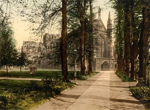 WINCHESTER CATHEDRAL. Church of England cathedral in Winchester, England. Photochrome