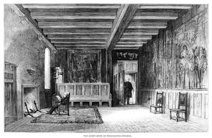 WINCHESTER COLLEGE, 1861. The audit room of Winchester College, an independent