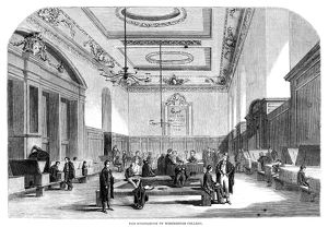 WINCHESTER COLLEGE, 1861. The schoolroom of Winchester College, an independent