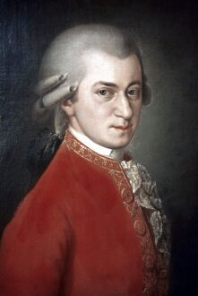 WOLFGANG AMADEUS MOZART (1756-1791). Austrian composer. Posthumous oil on canvas