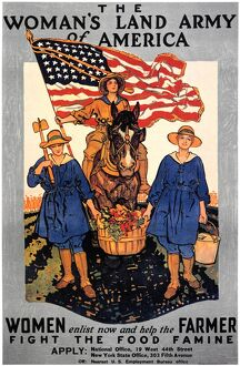 'The Woman's Land Army of America.' American World War I poster, c1918