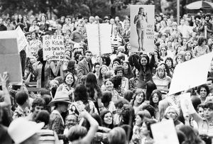 WOMEN'S LIB, 1971. Rally promoting the rights of women in Central Park, New York