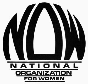 WOMEN'S RIGHTS: NOW LOGO. Official logo of the National Organization for Women (NOW)