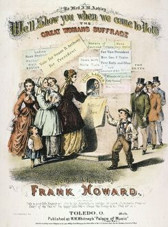 WOMEN'S RIGHTS: MUSIC, 1869. Lithograph sheet music cover of an American song