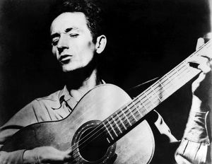 WOODY GUTHRIE (1912-1967). American folk singer. Undated photograph.