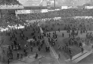WORLD SERIES, 1913. Fans on the field after the third game between the Philadelphia