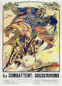 WORLD WAR I: FRENCH POSTER. 'They Fight: We Should Subscribe