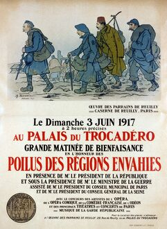 WORLD WAR I: FRENCH POSTER. Lithograph poster, 1917, advertising a charity event