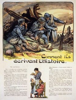 WORLD WAR I: FRENCH POSTER. 'How the Soldiers Write History