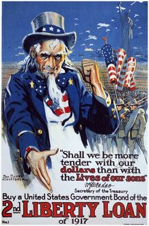WORLD WAR I: LIBERTY LOAN. 'Shall We Be More Tender?' American World War