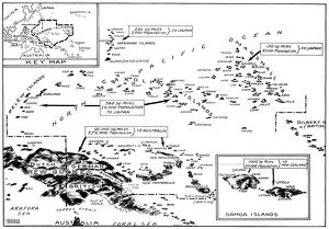 WORLD WAR I: MAP, C1919. Map of South Sea Islands captured from Germany in the
