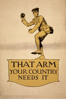 sports/world war i poster 1918 that arm country