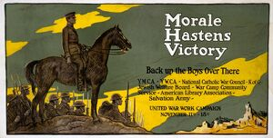 WORLD WAR I: POSTER, c1918. 'Morale Hastens Victory