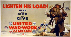 WORLD WAR I: POSTER, c1918. Poster for the United War Work Campaign and other charities