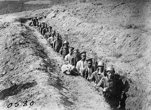 WORLD WAR I: PRISONERS. Greek soldiers escorting Bulgarian prisoners, location unknown