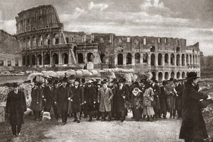 world geography/world war i rome 1919 presidential party pictured