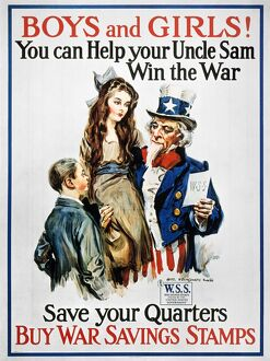 WORLD WAR I: U.S. POSTER. 'Boys and Girls! You Can Help Your Uncle Sam Win the War