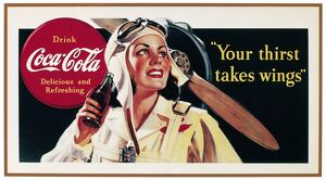 vintage ads/world war ii themed coca cola ad poster 1941