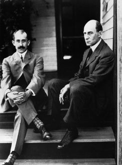 WRIGHT BROTHERS. Orville (left) (1871-1948) and Wilbur Wright (1867-1912)