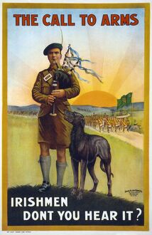 WWI: POSTER, 1915. 'The call to arms