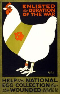 WWI: POSTER, 1915. 'Enlisted for duration of the war