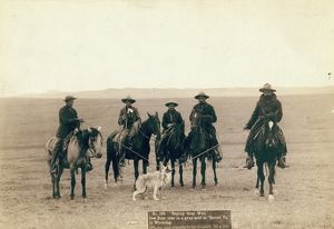 WYOMING: COWBOYS, 1887. ''Roping gray wolf