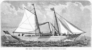 YACHT: ANTHRACITE, 1880. The English ocean steam-yacht, 'Anthracite.' Engraving