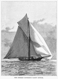 YACHT: METEOR, 1891. The yacht 'Meteor,' owned by Emperor Wilhelm II. Engraving
