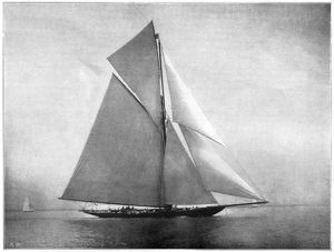YACHT: METEOR, 1899. The yacht 'Meteor,' owned by Emperor Wilhelm II, at the Cowes