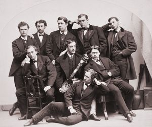 YALE UNDERGRADUATES, c1875. The Wooden Spoon Committee of Yale College