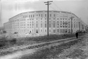YANKEE STADIUM, 1923. Yankee Stadium in the Bronx, shortly before the official opening