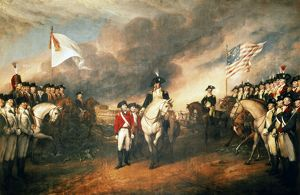 YORKTOWN: SURRENDER, 1781. The surrender of Lord Charles Cornwallis at Yorktown