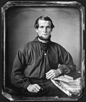 daguerreotypes/young man chin whiskers daguerreotype unknown