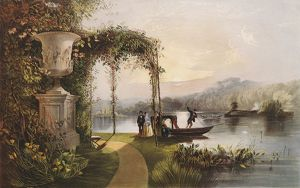 The Lake, Trentham Hall Gardens, The Seat of His Grace the Duke of Sutherland.