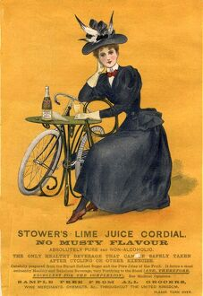 1890s UK stowers lime juice cordial bicycles bikes cycling cycles