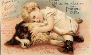 1890s USA babies hoytes cologne dogs womens baby