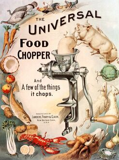 1899 1890s USA food choppers mincers the universal cooking appliances gadgets