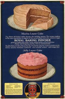 1920s USA royal cakes desserts baking powder