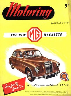 1950s UK cars mg magnette covers magazines