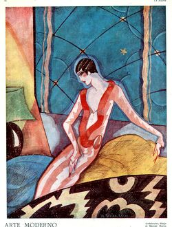 Art Deco Woman 1920s France La Esfera cc art deco illustrations Portraits