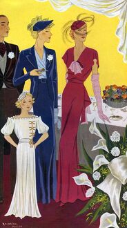 Baldrich 1936 1930s Spain cc womens dresses evening-dress eveningwear reception